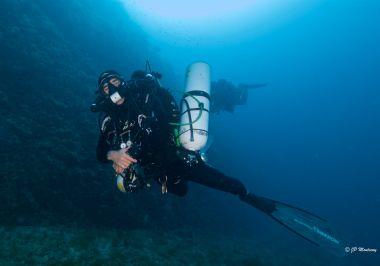 Plongeur recycleur